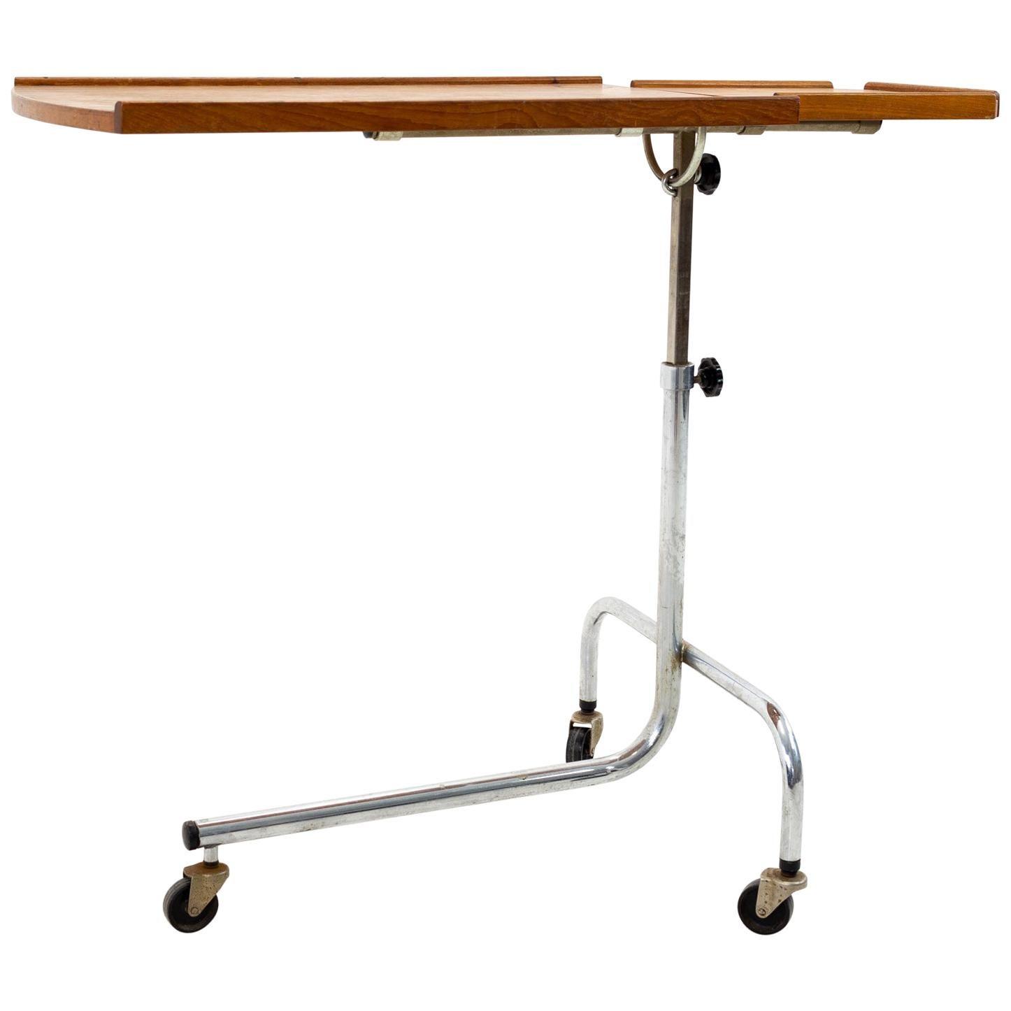 HMN Mid Century Danish Teak Adjustable Tray Table