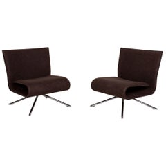 Hob Easy Chair Set by Vertijet for COR 2x Designer Armchairs, Felt, Fabric