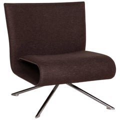 HOB Easychair by VERTIJET for COR Designer Armchair, Felt Fabric, Brown, Molded