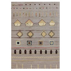 Hobbs Neutral Hand-Knotted Wool Rug