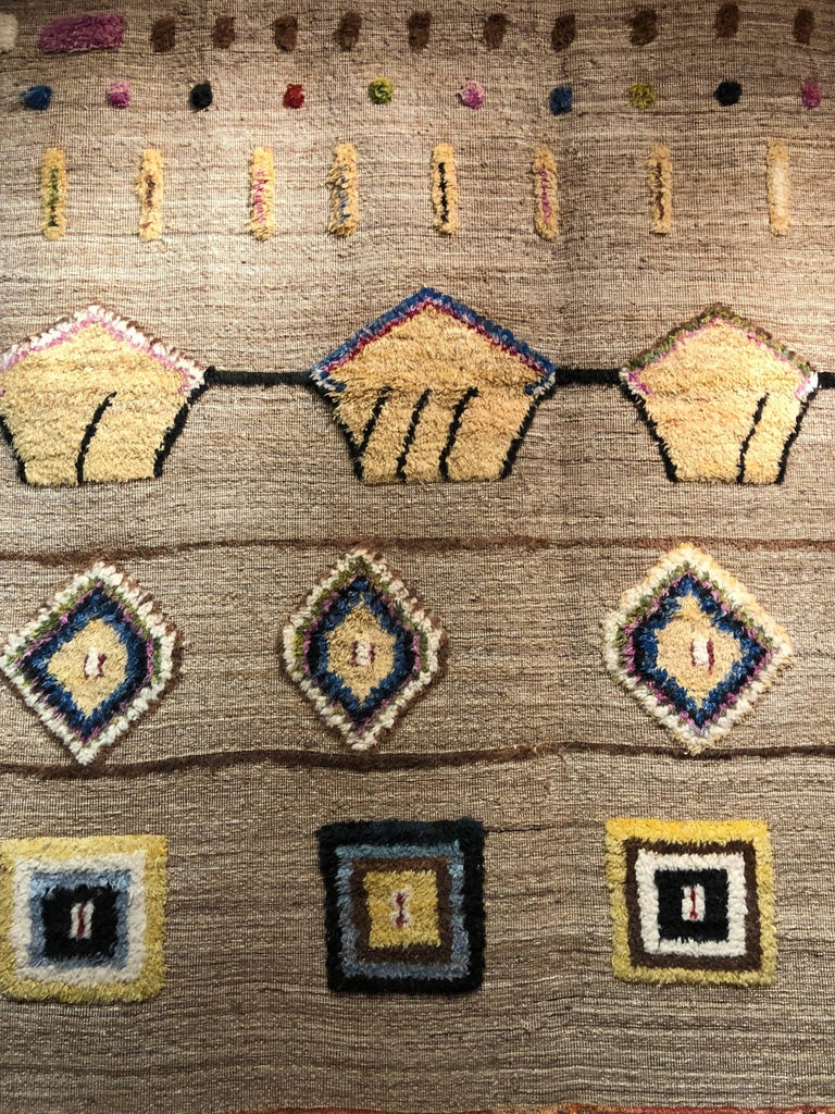 Hobbs Neutral Hand-Knotted Wool Rug In New Condition For Sale In Athens, GA