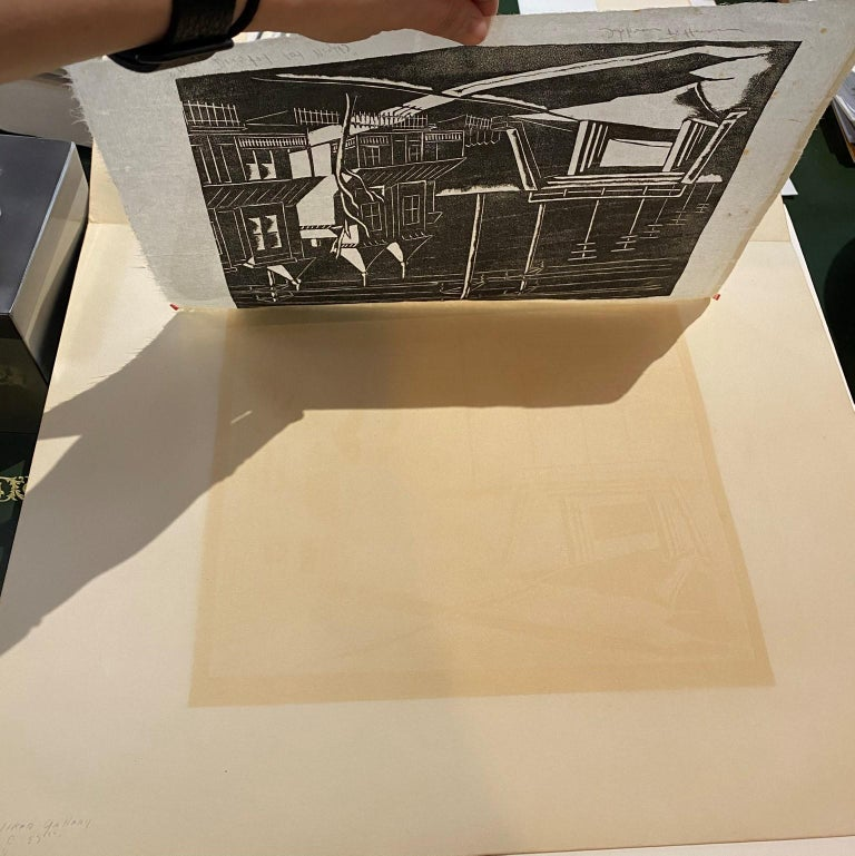 Near Bristol, Late Night, Woodcut print on Japanese Paper by Hobson Pittman For Sale 3