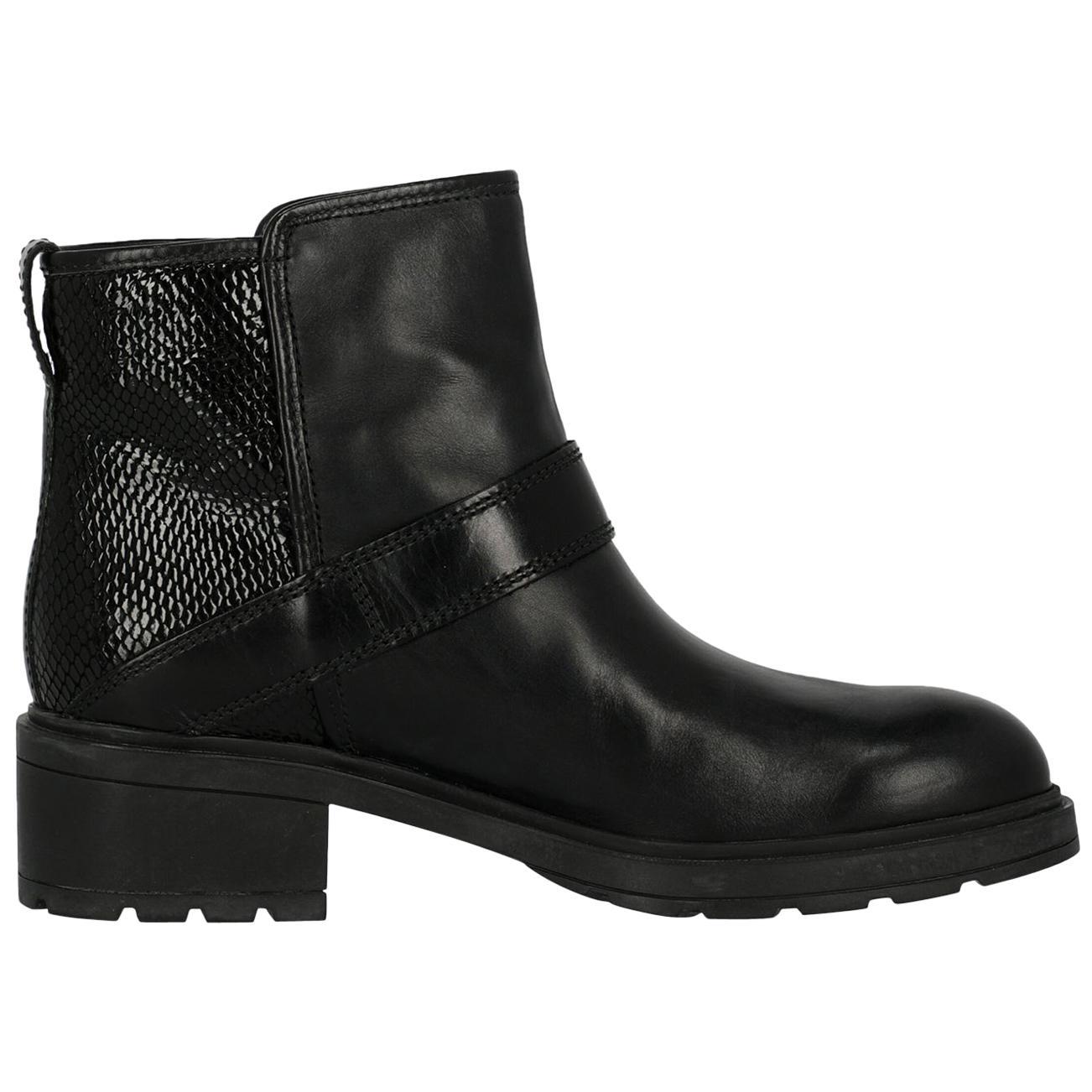 Hogan Woman Ankle boots Black Leather IT 36