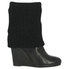 Hogan Woman Ankle boots Black Leather IT 36.5