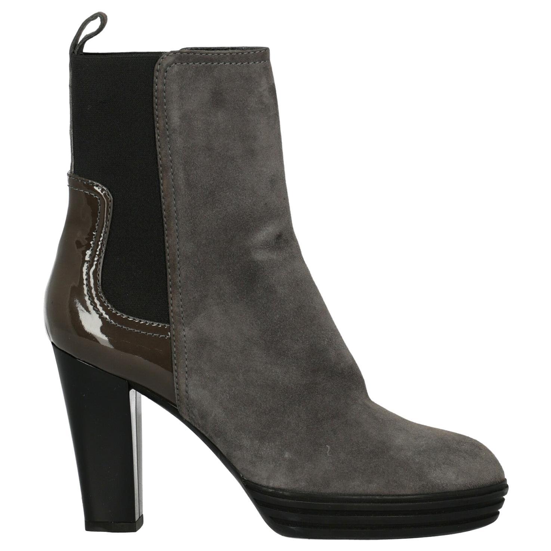 Hogan Woman Ankle boots Grey EU 36