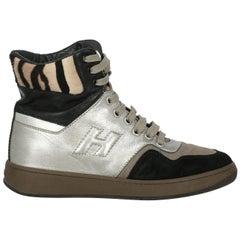 Hogan Woman Sneakers Beige Leather IT 36