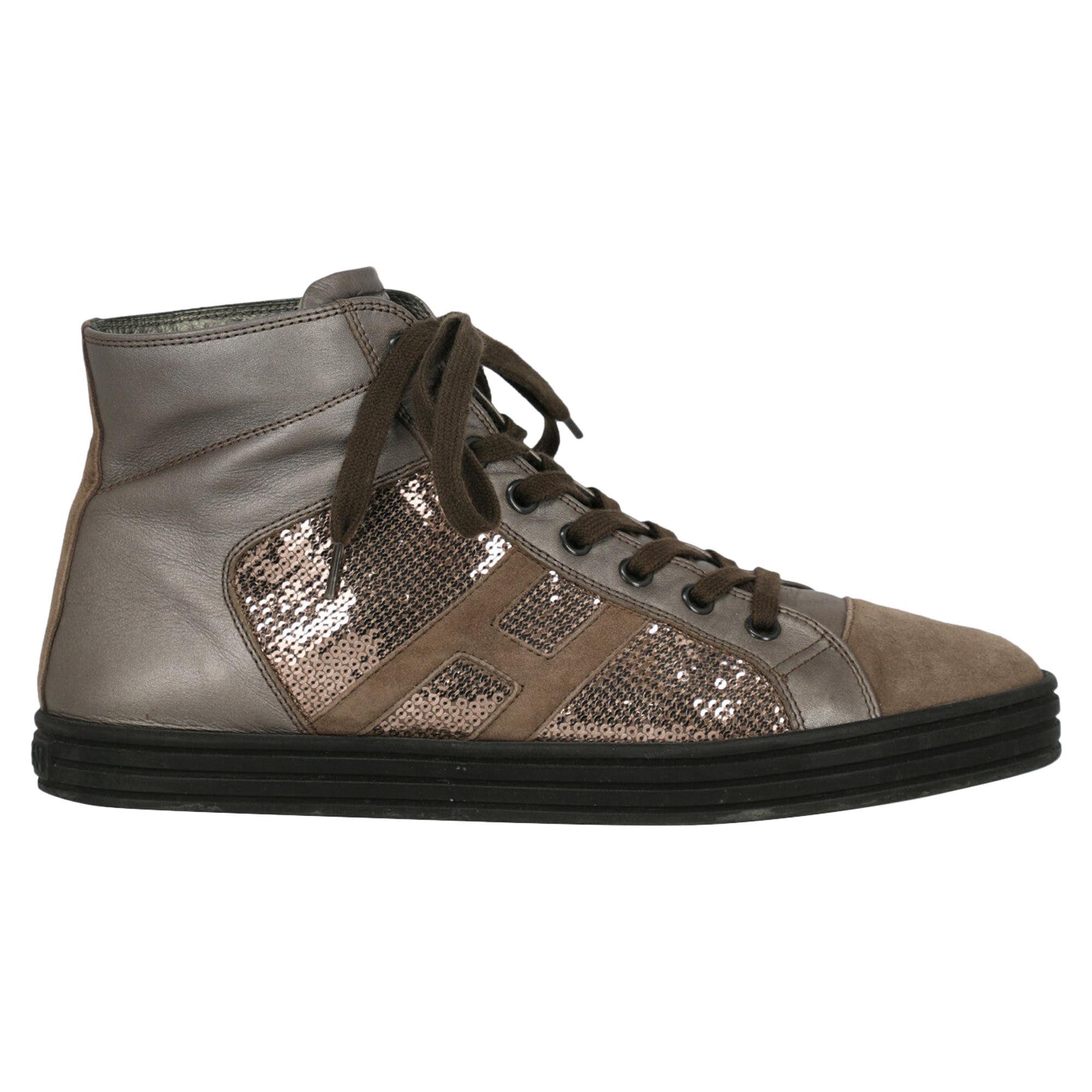 Hogan Woman Sneakers Beige Leather IT 40