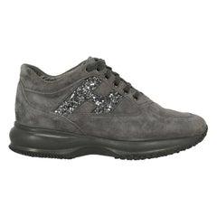 Hogan Woman Sneakers Grey Leather IT 38.5