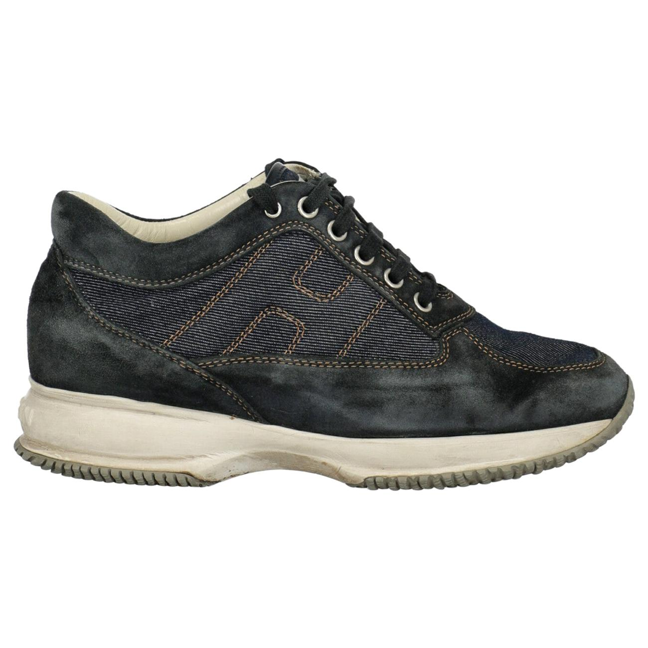 Hogan Woman Sneakers Navy Leather IT 36