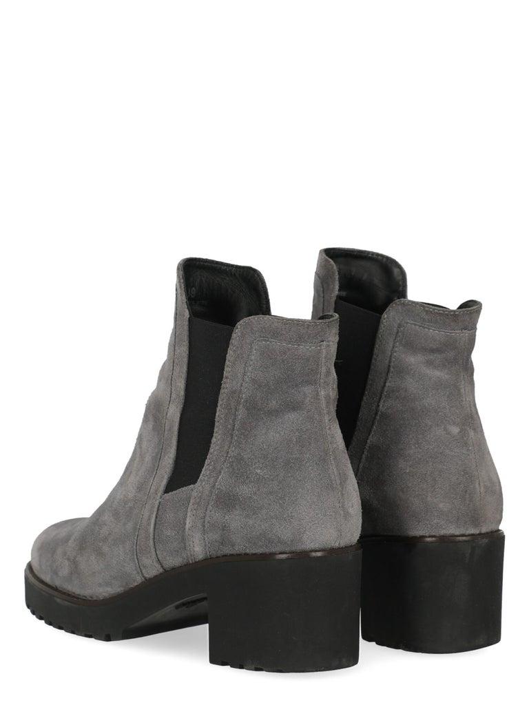 Gray Hogan Women Ankle boots Grey Leather EU 39