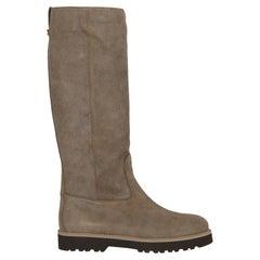 Hogan Women  Boots Beige Leather IT 37