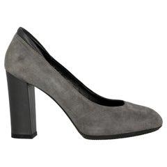 Hogan  Women   Pumps  Grey Leather EU 37.5