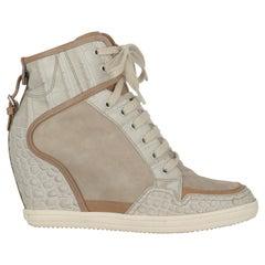 Hogan Women  Sneakers Beige Leather IT 38.5