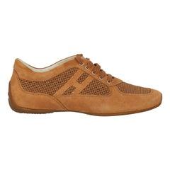 Hogan Women  Sneakers Camel Color Leather IT 36.5