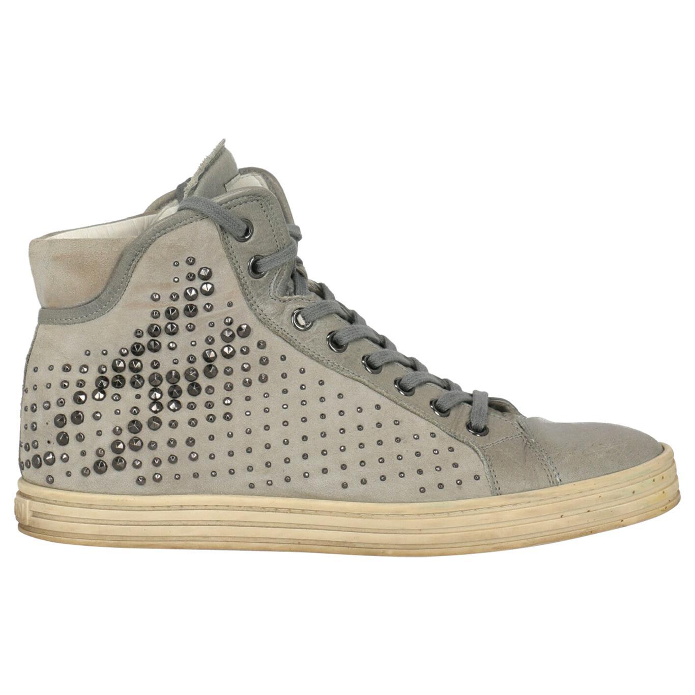 Hogan Women  Sneakers Grey Leather IT 38.5