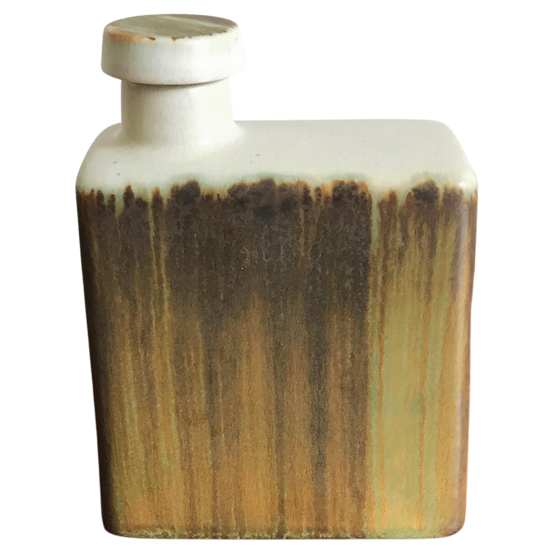 Höganäs Keramik Scandinavian Ceramic Bottle, 1960s