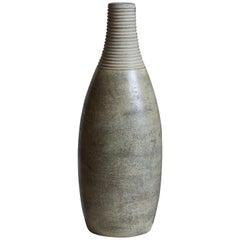 Höganäs Keramik, Sizable Vase, Glazed and Incised Ceramic, Sweden, 1930s