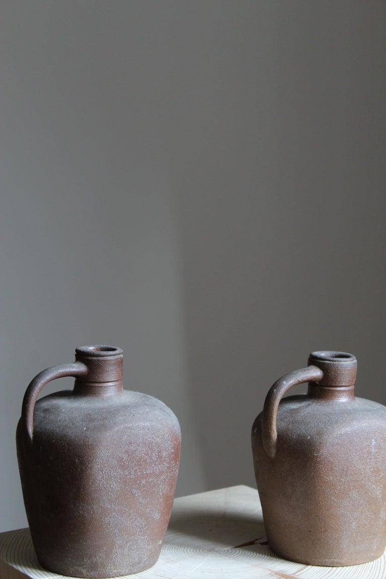Mid-Century Modern Höganäs Keramik, Vases / Bottles, Glazed Ceramic, Sweden, 1930s For Sale