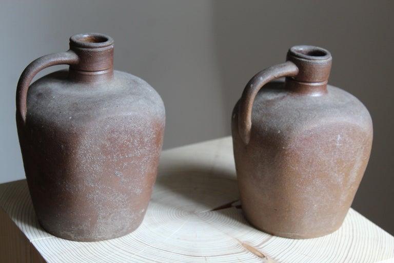 Swedish Höganäs Keramik, Vases / Bottles, Glazed Ceramic, Sweden, 1930s For Sale