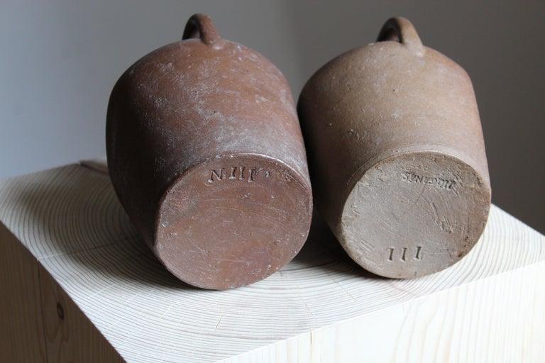 Höganäs Keramik, Vases / Bottles, Glazed Ceramic, Sweden, 1930s In Good Condition For Sale In West Palm Beach, FL