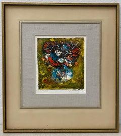 Dang (Hoi) Lebadang Floral Still Life Lithograph C.1970