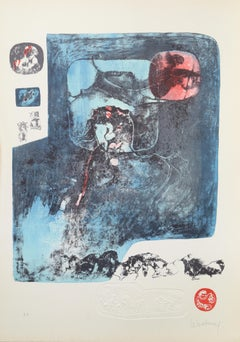 Lithograph from the Ten Horses Portfolio by Lebadang