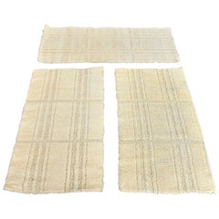 Hojer Eksport Wilton Pure New Wool Set of 3 White Rugs, 1975, Denmark