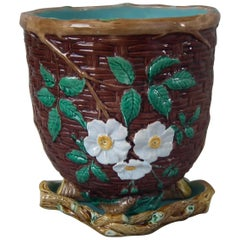 Holdcroft Majolica Floral Jardinière and Stand
