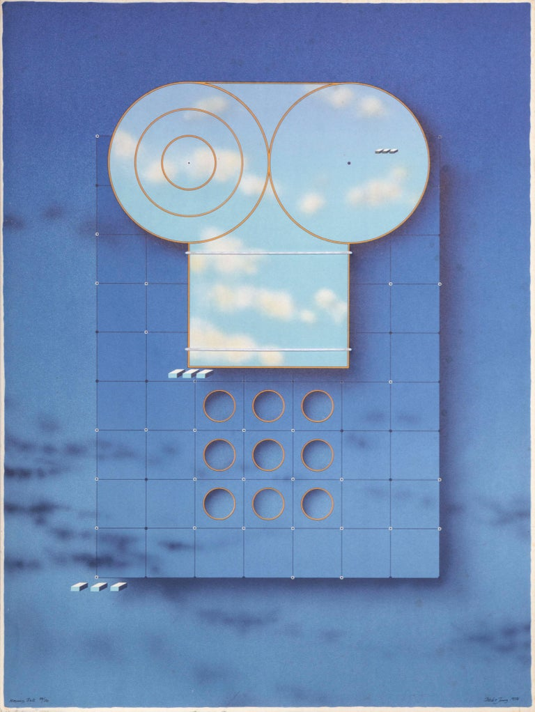 Holger Bäckström Abstract Print - Morning Bell, Magritte-like Surreal Print by Backstrom aka Beck o Jung