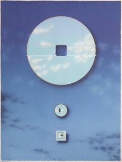Morning Eye, Magritte-like Surreal Print by Backstrom aka Beck o Jung