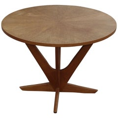 "Holger Georg Jensen ""Cube"", Round Teak Coffee Table Made by Tønder Furniture"