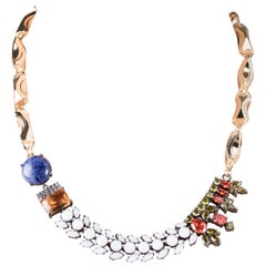 Holiday Collection Chain Necklace with Blue Sodalite and Agates from IOSSELLIANI