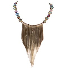 Holiday Collection Necklace with central fringes from IOSSELLIANI