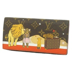 holiday collection  portofeuilles Sarah  animal  Womens  long wallet M63424  cer