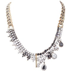 Holiday Necklace with Black and White Optical Zircons from IOSSELLIANI