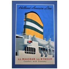 Holland America Line  Midcentury Poster