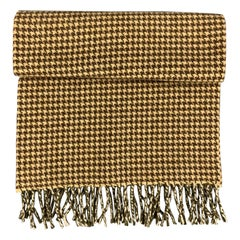 HOLLAND & HOLLAND Houndstooth Brown & Tan Cashmere Scarf