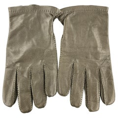 HOLLAND & HOLLAND Vintage Size 8.5 Olive Leather Silk Lined Gloves