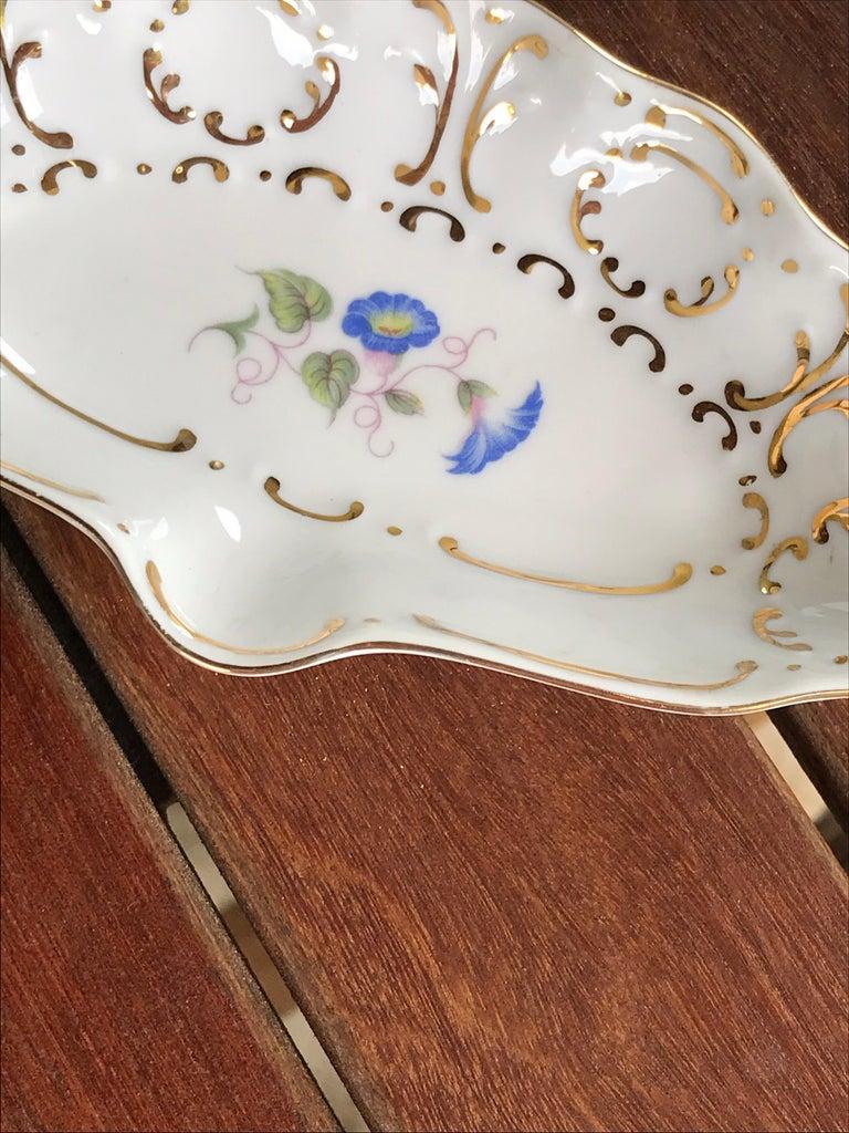 Hungarian Hollohaza Porcelain Ashtray or Ring Dish For Sale