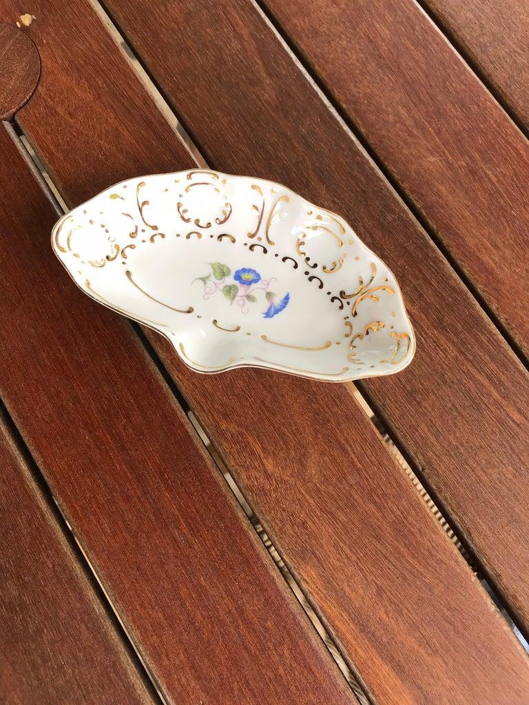 Mid-20th Century Hollohaza Porcelain Ashtray or Ring Dish For Sale