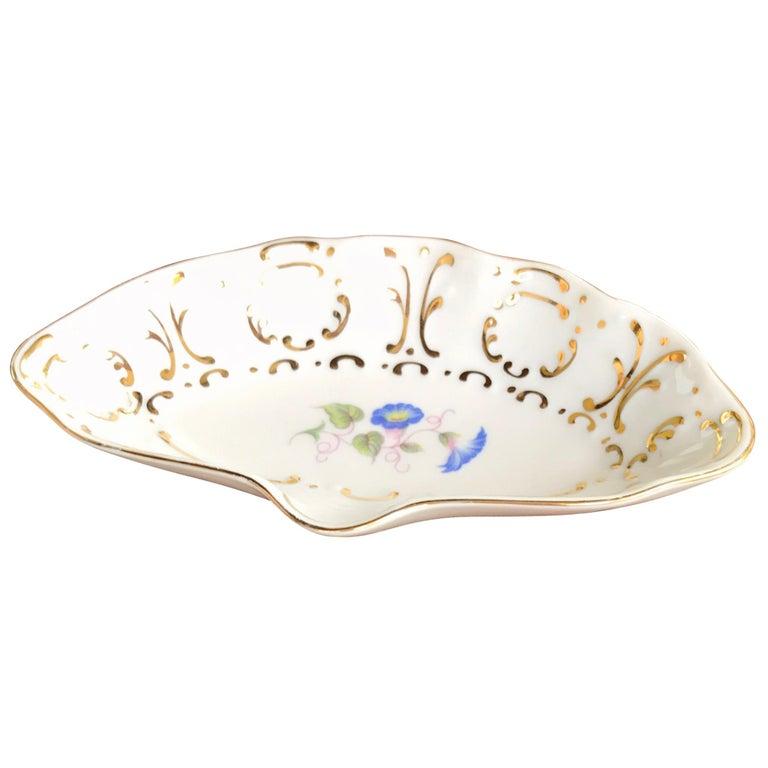 Hollohaza Porcelain Ashtray or Ring Dish For Sale