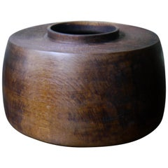 Hollow Form Limed Oak Bowl by Fritz Baumann