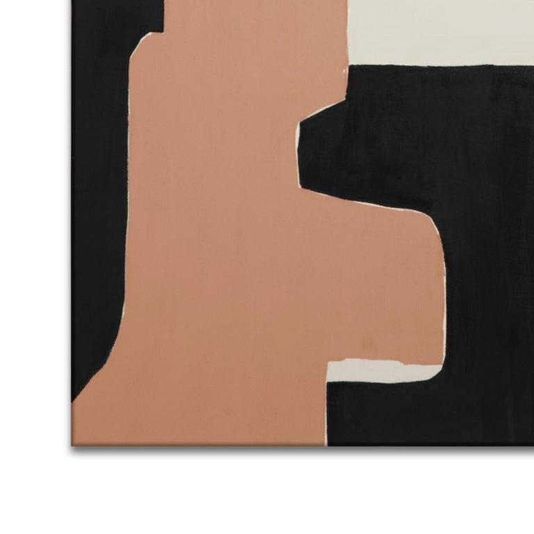 La Morada - Brown Abstract Painting by Holly Addi