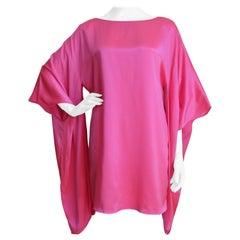 Holly Harp 1970s Silk Angel Sleeve Dress