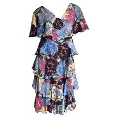 Holly Harp Flower Print Ruffle Dress