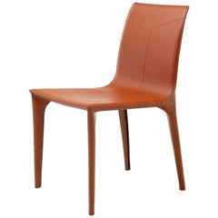 HOLLY HUNT Adriatic Dining Side Chair in Sierra Leather