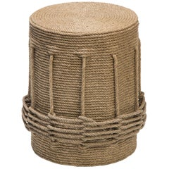 HOLLY HUNT Afritresse Stool in Natural Hemp by Christian Astuguevieille