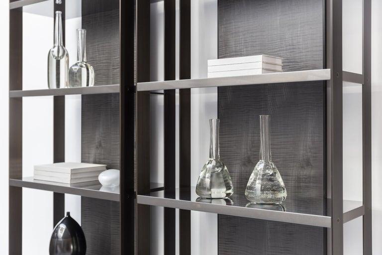 Etched HOLLY HUNT Handmade 804 Solid Crystal Vase by Alison Berger Glassworks For Sale