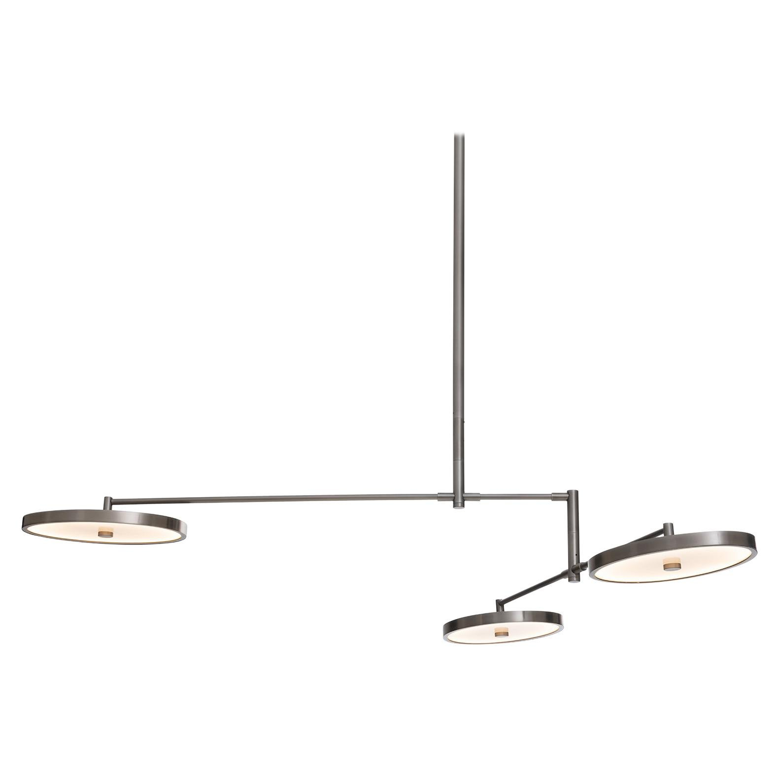 HOLLY HUNT Helios Medium Chandelier with 3 Movable Light Heads by Stefan Gulassa