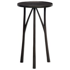 HOLLY HUNT Juniper Round Table in Bronze Monument Dark Bronze Patina Finish
